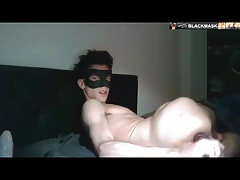 Back to past - German Boy play with his huge Dildo
