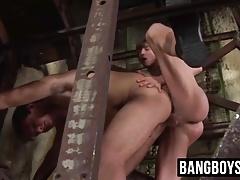Twinks gay threesome in underground mine