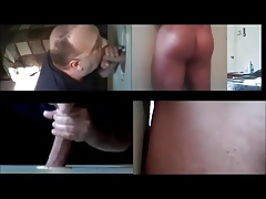 Blowing Big Cut Cock With Big Head In Gloryhole 4 Ways