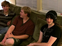 Massive asian male pubic hair gay Aron, Kyle and James are d
