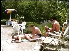 Three Raunchy Twinks Sunny Day Poolside Anal Sex Trip
