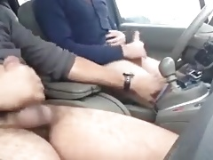 Guys stroking their hard cocks and shooting hot cum loads 3