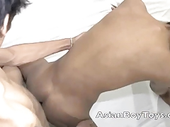 Asian twinks go anal