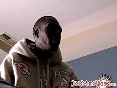 Handsome black stud J Bone jerks out a thick white load