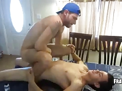 White twink rides on buddy cock