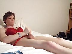 Sissy masturbation