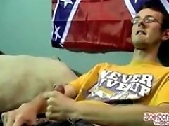 Black dude sucks a dick while stroking two other hard cocks