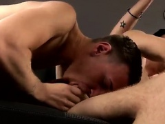 Gay double penetration muscle porn Coerced Into Taking Cock