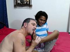 Foot licking dilf barebacking asian twink