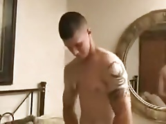Horny marine cadet showing off