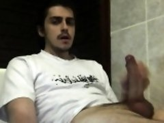 Wanking receiving and selfsucking cum fill in mouth