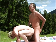 Rock Hard Cock Outdoors Fuck