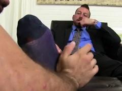 Foot fuck gay Hugh Hunter Worshiped Until He Cums