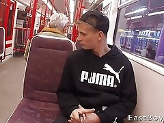 IN THE SUBWAY AND HANDJOB