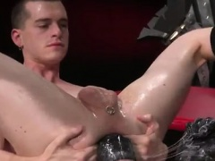 Twink fisted movie and gay pussy boy gets fisted Tatted swee