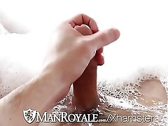 HD ManRoyale - Cute guy has his ass washed and fucked