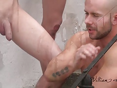 4-some bareback fun out in the countryside - WH Wank Party