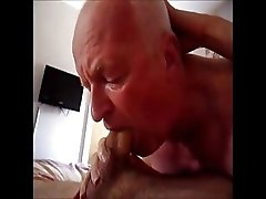Facefuck- Grandpa and long dick boy