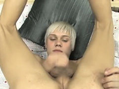 Hot twink Ashton's Dildo Play