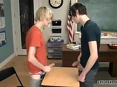 A twink fuck in the classroom has Preston Andrews getting it up the ass - HotCamGay.net