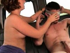 Straight dude enjoys gay BJ on blindfold