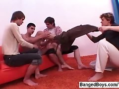 Young Boy Fucked Hard By Group of Boys