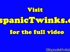 Cumswap latino twinks have outdoor threeway