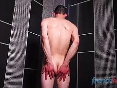 Cute 18yo twink get fucked in the shower