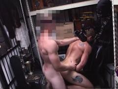 Gangbang cum hardcore anal gay Dungeon sir with a gimp