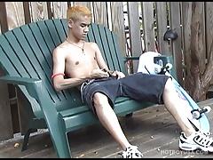 Gay Asian Twink Derek Rei Beating Off