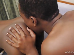 Black Twinks Hakim and Michael Bareback