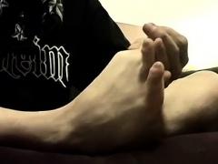 Boys feet orgy gay snapchat Cummy Feet With Str8 Ian