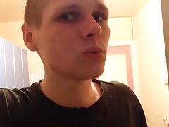 Russian guy spitting