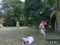 Nasty twink endures an outdoors hazing party