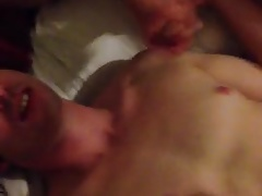 Twink gets a double facial