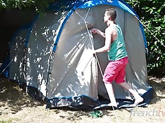 Outdoor Camping Threesome