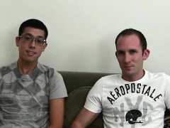 Three gays doing oral and anal sex on couch