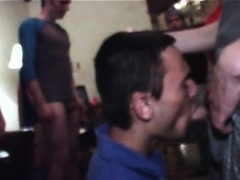 College fresher eats his first cock for the fraternity