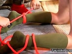 Gay twink boys in speedos After being tied up by the leader in a show of