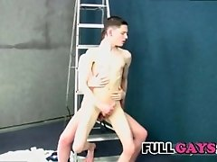 Skinny bareback fucking with friend