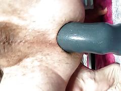 Large big boy dildo destroying Twink ass