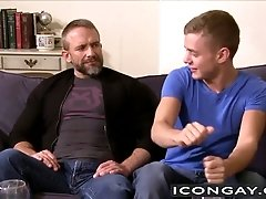 Big daddy Dirk Caber likes to stick it into his twink friend