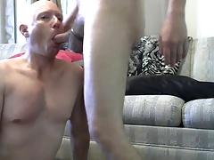 Gay Sissy Fag Mike Karacson gives blowjob sucks cock