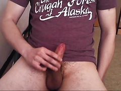 Young cummer. Double cumshot, ruined orgasm.