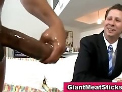 White guy in suit sucks dick