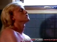 Cute Young Blonde Guys Fool Around in a Tub - PUPPY TALES (1989)