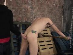 Ashton enjoys spanking him before slamming his twink ass