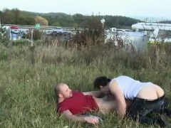 Outdoor boy to boy gay sex photo Muscular Studs Fuck in The